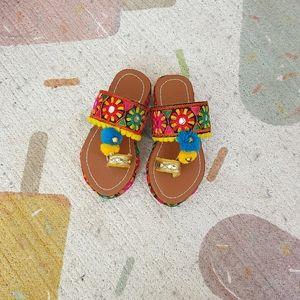 Handmade boho baby sandals